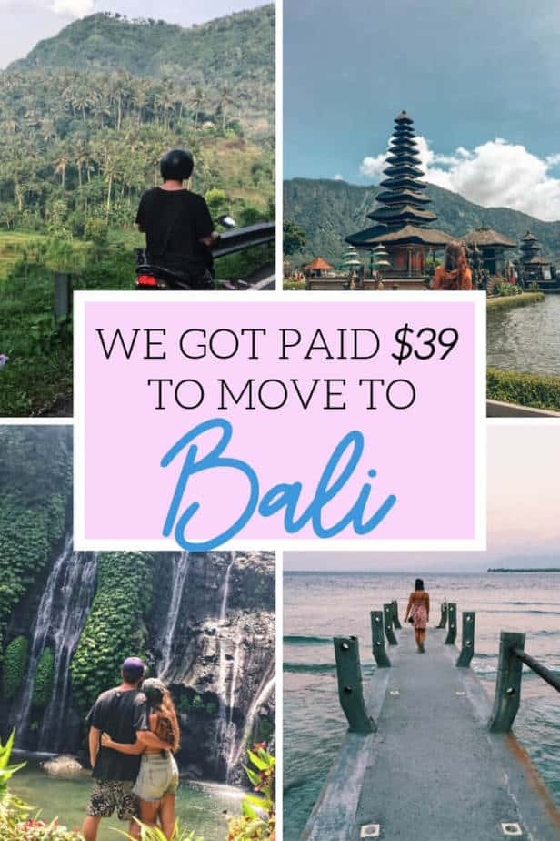 We got paid $39 to move to Bali