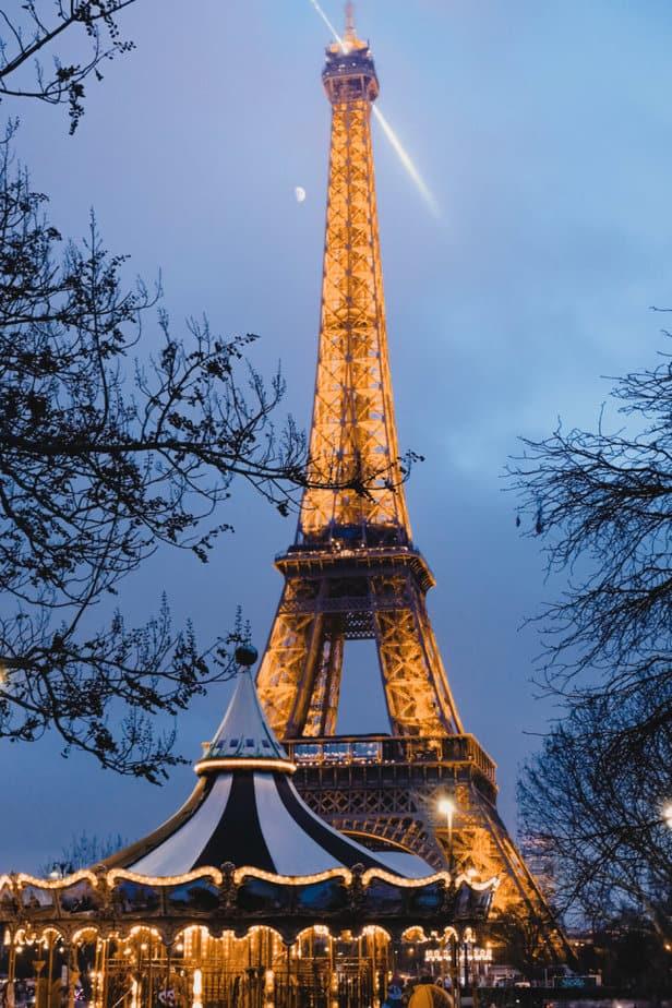 The Eiffel Tower in Paris, Europe