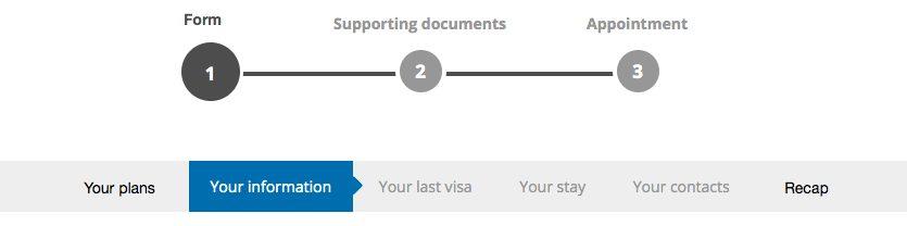 Steps to follow on France Visa Website
