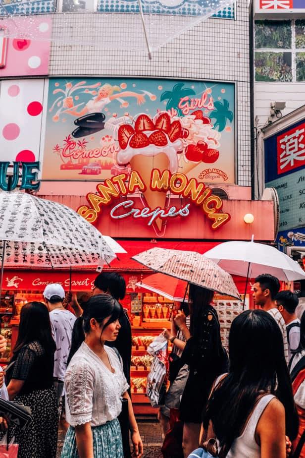 Santa Monica Crepes on Takeshita Street, Japan