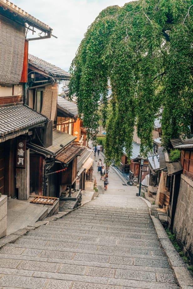 NINENZAKA & SANNEIZAKA STREETS  in Kyoto, Japan