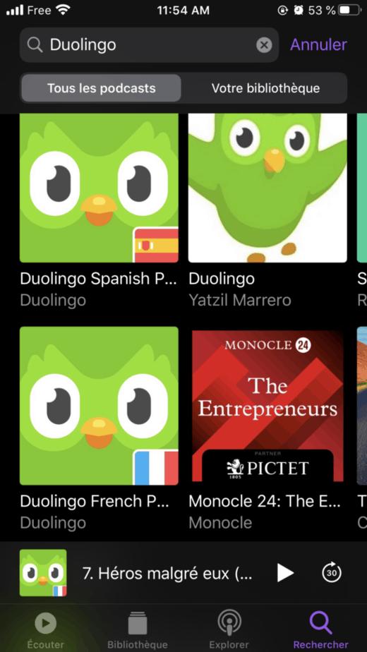 Duolingo podcasts
