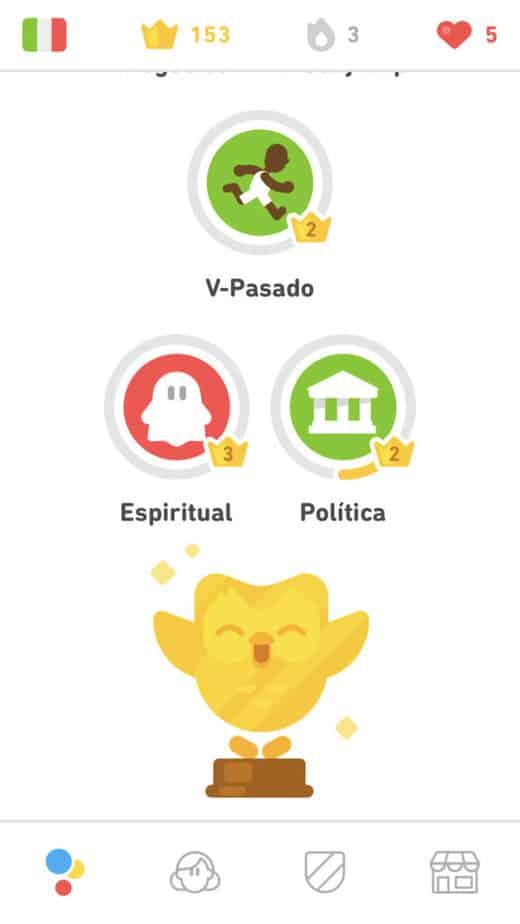 Golden Owl on Duolingo