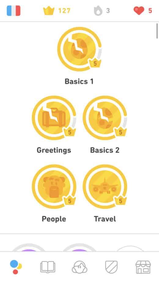 Golden Topics on Duolingo