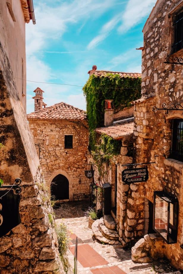 street in Eze, France