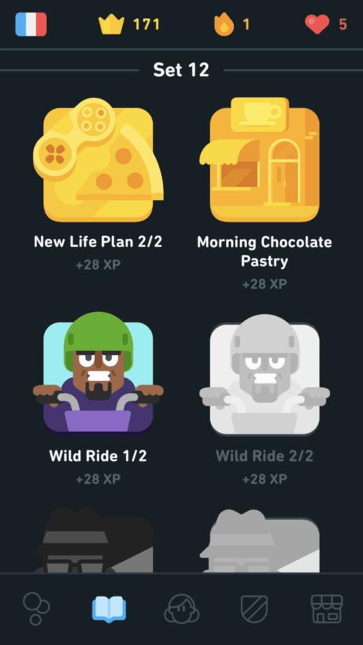 Duolingo Stories for 28 XP