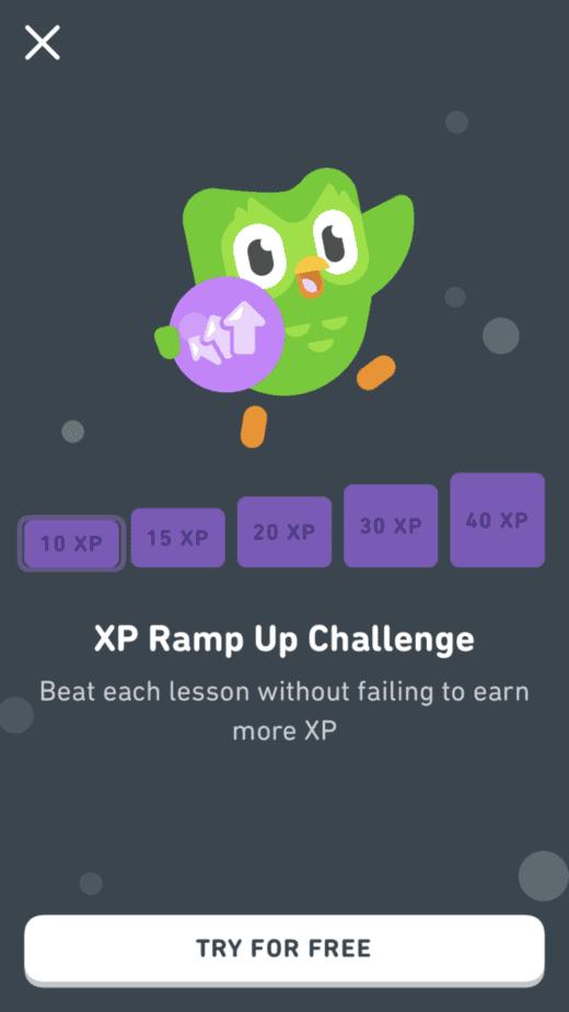 Duolingo ramp up challenge in Duolingo leagues