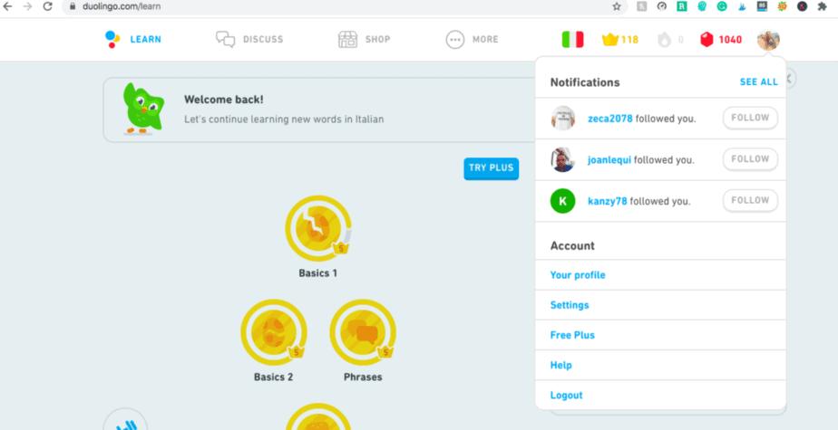 Duolingo desktop version