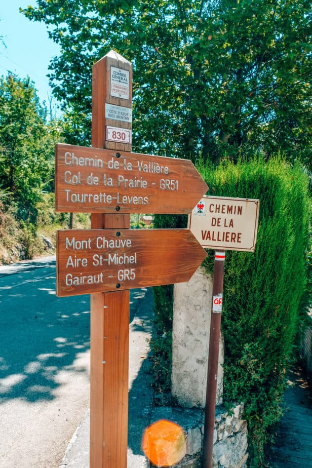 Sign to Start Mont Chauve Hike