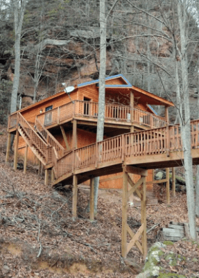 cabin on mountainside airbnb rental