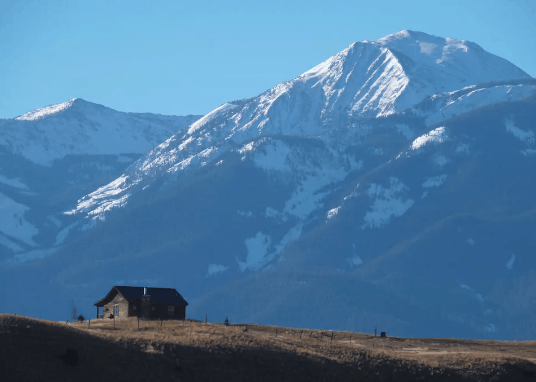 Montana mountain view cabin rental