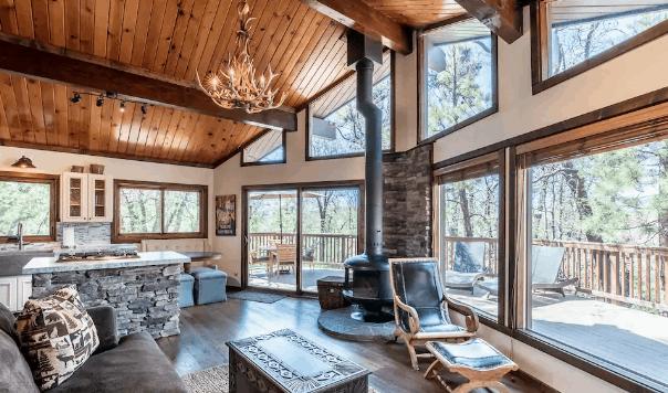 modern airbnb Big Bear cabin rental