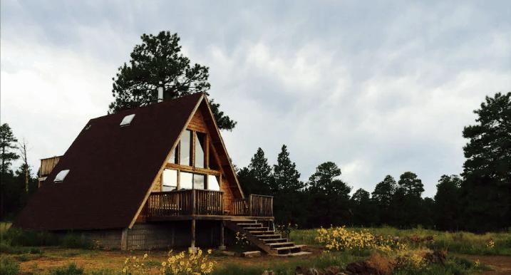 A-frame cabin rental in Arizona Airbnb