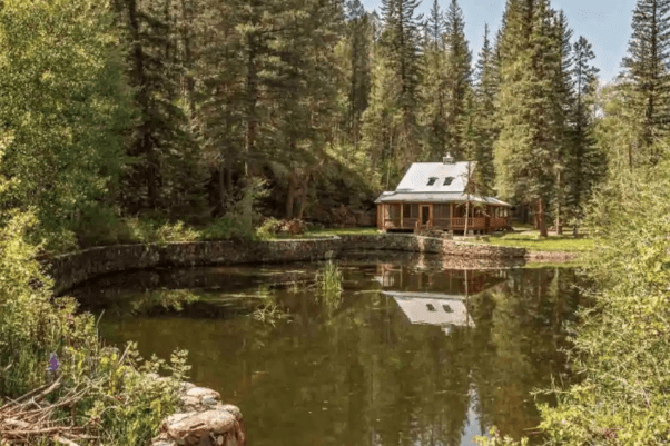Lakeside New Mexico cabin Airbnb