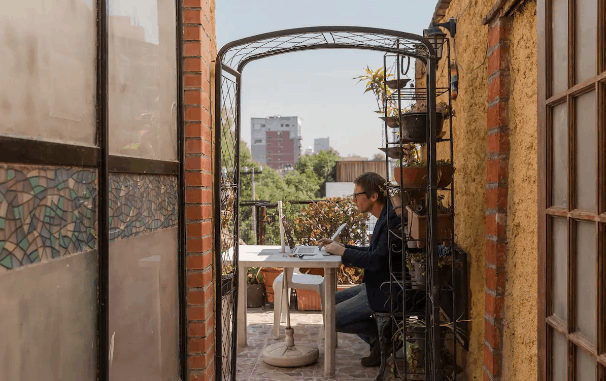 rooftop terrace airbnb mexico city