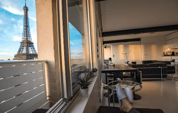 Incredible Airbnb with Eiffel Tower view