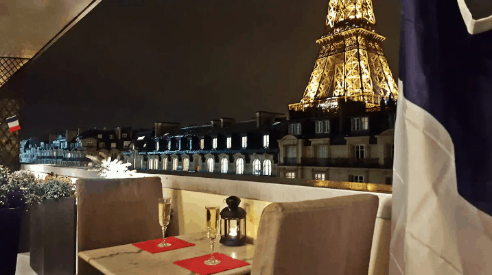Balcony with view of Eiffel Tower Airbnb rental