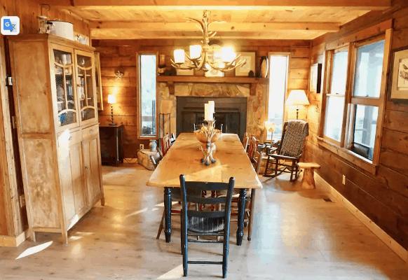 Cabin interior wooden finishings