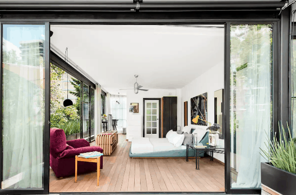 Open concept airbnb in Mexico City