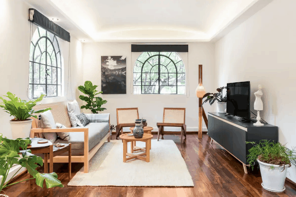 Artsy Mexico city apartment for rent