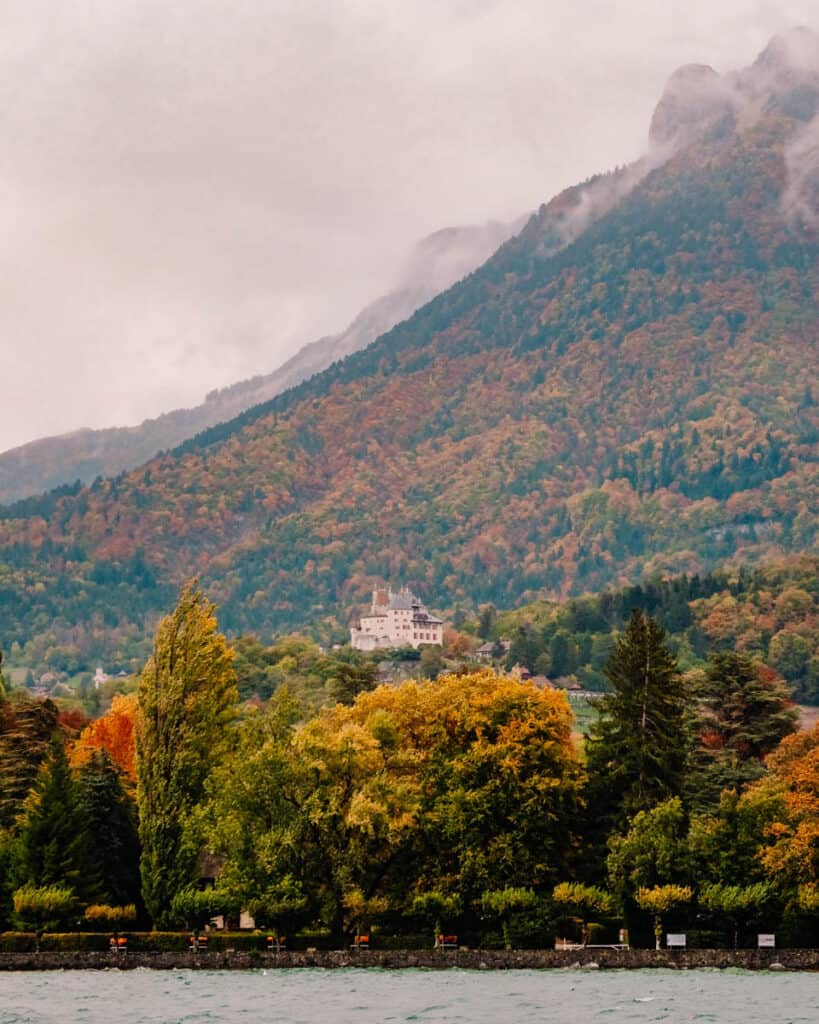 castle in Annecy during autumn