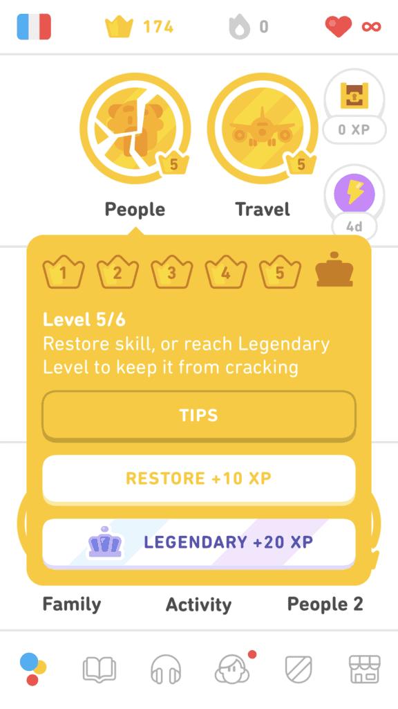 Legendary Level on Duolingo