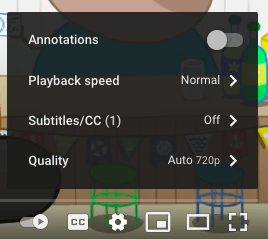 Change Playback Speed on Peppa Pig Video