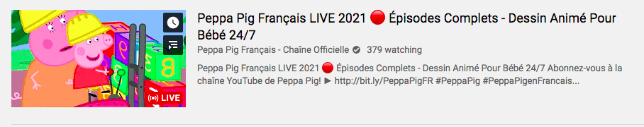 Watch French Peppa Pig on Youtube
