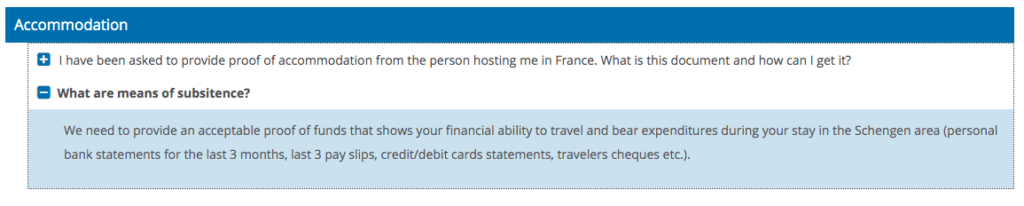 Proof of Accommodation Question and Answers on France Visa Site