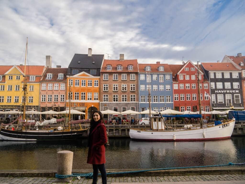 girl in Copenhagen, Denmark working abroad