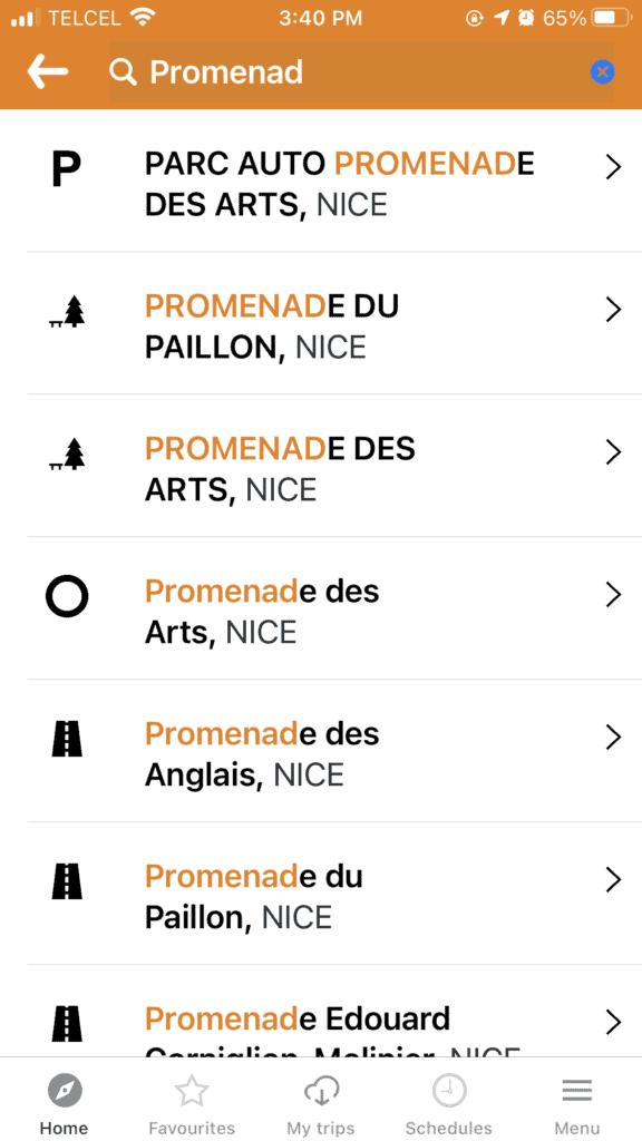 Lignes d'Azur app Nice to Villfranche-sur-mer