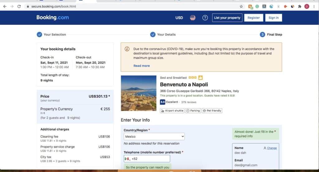 Booking.com Scam