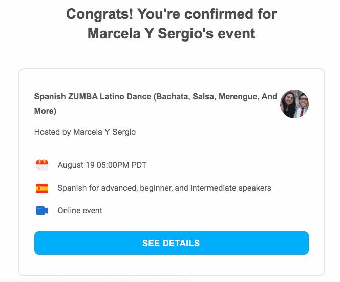 Duolingo Event Email