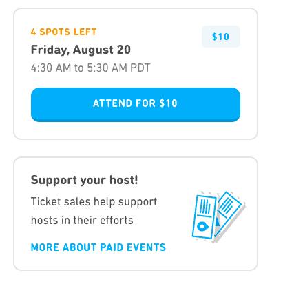 Duolingo Paid Event